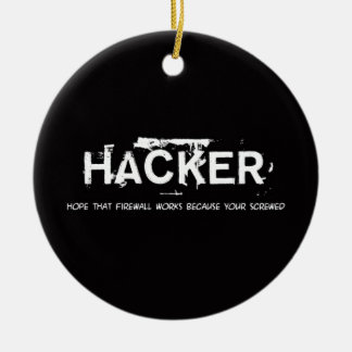 Fun hackers ceramic ornament
