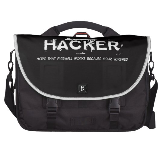 Fun hackers laptop commuter bag