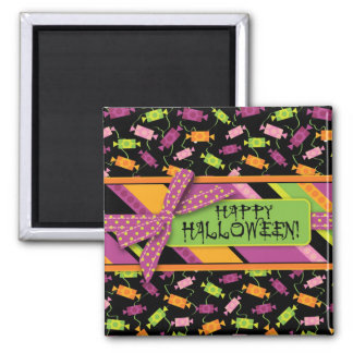Fun Halloween Candy Print 2 Inch Square Magnet