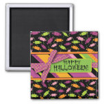 Fun Halloween Candy Print Fridge Magnet
