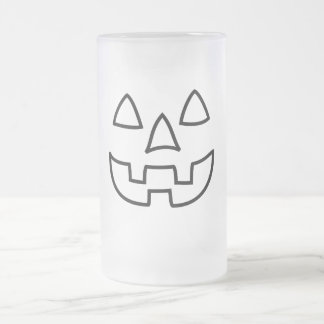 Fun Halloween face Frosted Glass Beer Mug
