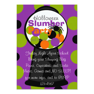 Fun Halloween Gumball Machine Card