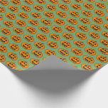 [ Thumbnail: Fun Halloween Jack-O'-Lantern Pumpkin With 3 Eyes Wrapping Paper ]
