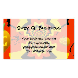 Fun Halloween Kaleidoscope Pattern Black Orange Double-Sided Standard Business Cards (Pack Of 100)