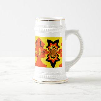 Fun Halloween Kaleidoscope Pattern Black Orange Mug