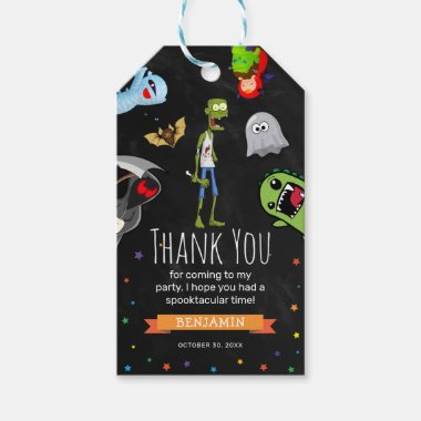 Fun Halloween Kids Birthday Party Thank You Favor Gift Tags