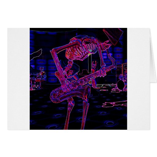 Fun Halloween Music Gifts and Party Favors Greeting Card