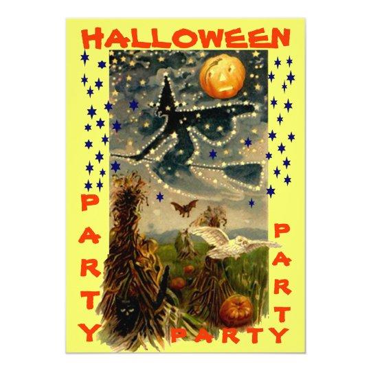 FUN HALLOWEEN PARTY INVITATION ~ EZ TO CUSTOMIZE!