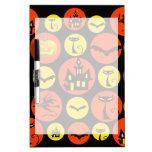 Fun Halloween Polka Dot Pattern Haunted House Dry Erase Board