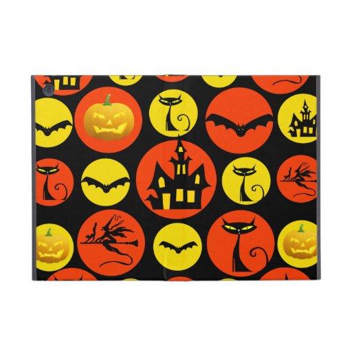 Fun Halloween Polka Dot Pattern Haunted House iPad Mini Cover
