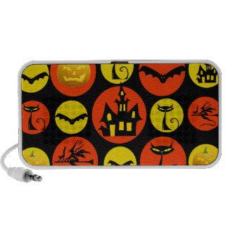 Fun Halloween Polka Dot Pattern Haunted House iPhone Speakers