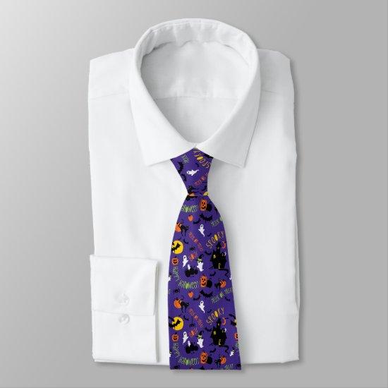 Fun Halloween Print Tie