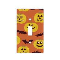 Fun Halloween Pumpkin & Bat Design Switch Plate Covers