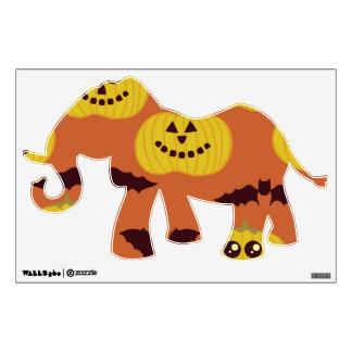 Fun Halloween Pumpkin & Bat Design Wall Sticker