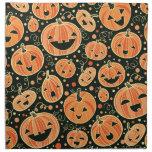 Fun Halloween Pumpkins Pattern Cloth Napkin