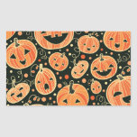 Fun Halloween Pumpkins Pattern Stickers