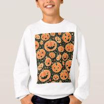 Fun Halloween Pumpkins Pattern Sweatshirt
