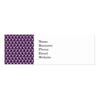 Fun Halloween Purple Green Black Flower Pattern Double-Sided Mini Business Cards (Pack Of 20)