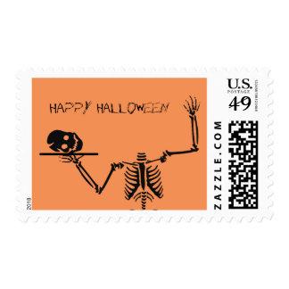 Fun Halloween Skeleton Postage