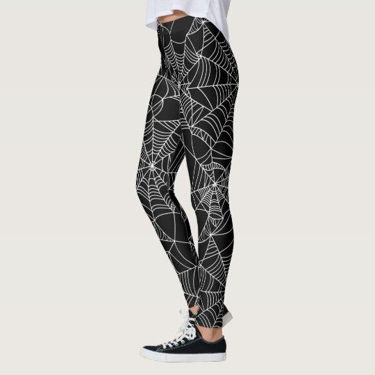 Fun Halloween spider web pattern leggings | Zazzle.com