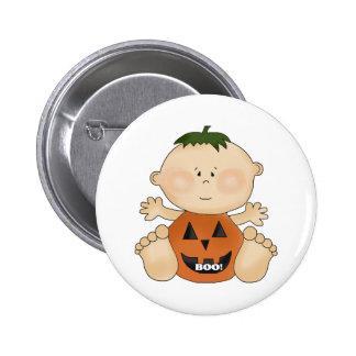 Fun Halloween Theme BOO Baby Boy Pin Button