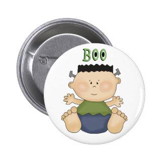 Fun Halloween Theme Boy BOO Baby Pin Button