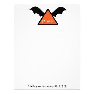 Fun halloween themed note paper custom letterhead