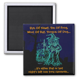 Fun Halloween Witch 2 Inch Square Magnet