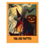 FUN HALLOWEEN WITCH INVITATION ~ EZ TO CUSTOMIZE!
