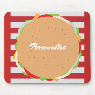 Fun hamburger mousepad