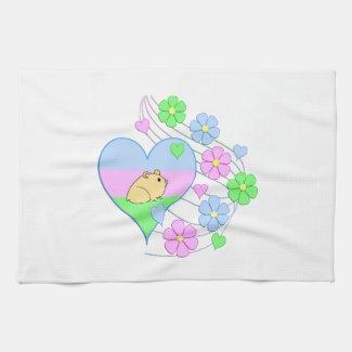 Fun Hamster Heart Kitchen Towel