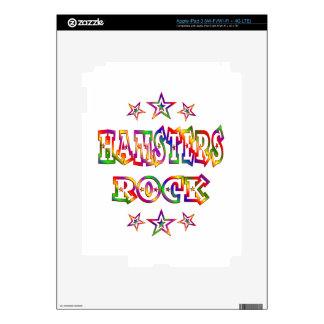 Fun Hamsters Rock Decal For iPad 3