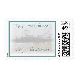 Fun Happiness Joy Excitement Postage Stamp