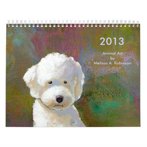 Fun happy art cute animal paintings 2013 wall calendars