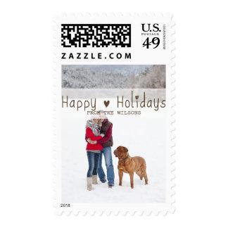 Fun Happy Holidays   Holiday Photo Postage