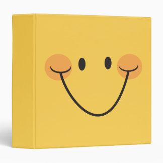 Fun happy yellow smiley binder/organizer