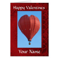 Fun heart shaped balloon valentines day cards