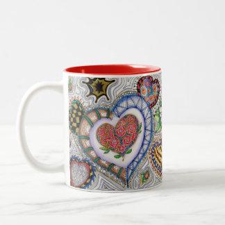 Fun Hearts and Flowers Mug