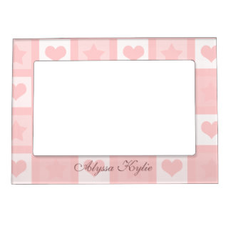 Fun Hearts and Stars Magnetic Photo Frame