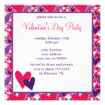 Fun Hearts Valentines Day Invitation