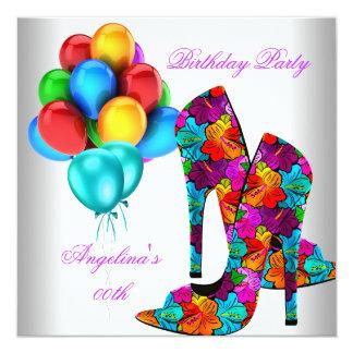 FUN High Heel Shoes Birthday Party Balloons Card