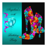 FUN High Heel Shoes Birthday Party floral Personalized Invitation