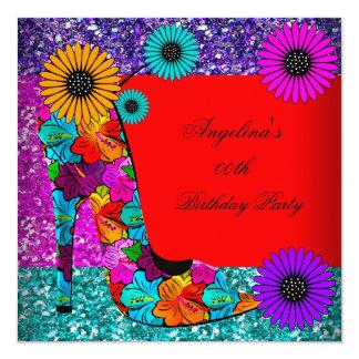 FUN High Heel Shoes Birthday Party Flowers Custom Invitations
