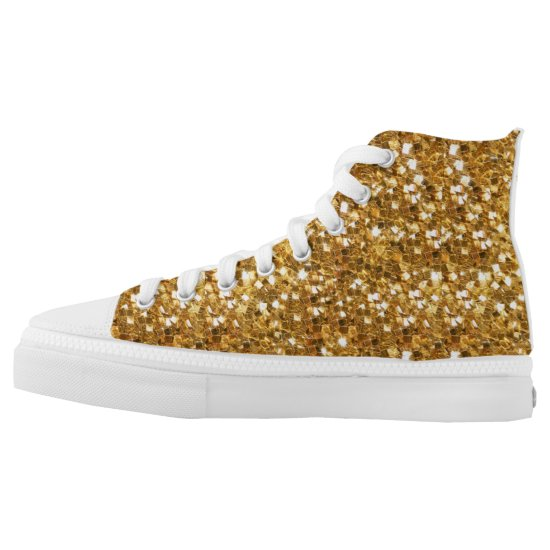 Fun High Top Gold Look Holiday Shoes