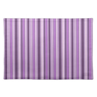 Fun Hipster Stripes Pattern in Shades of Purple Cloth Placemat