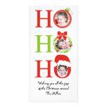 Fun HO HO HO Photo Frame Christmas Greeting Card Photo Card