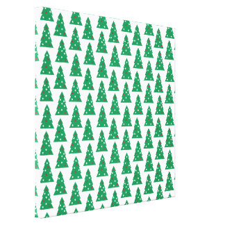 Fun Holiday Tree Pattern Canvas Print