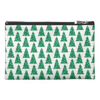 Fun Holiday Tree Pattern Travel Accessory Bag