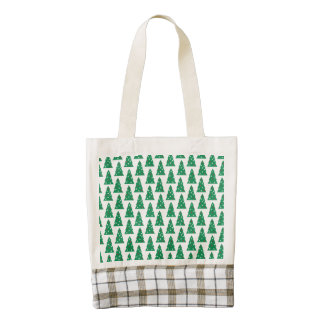Fun Holiday Tree Pattern Zazzle HEART Tote Bag
