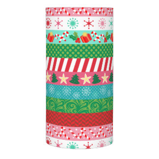 Fun Holiday Washi Tape Stripes LED Candle